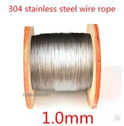 Высокое качество 100 м 1.0 мм 7 * 7 мм нержавеющей стальной трос