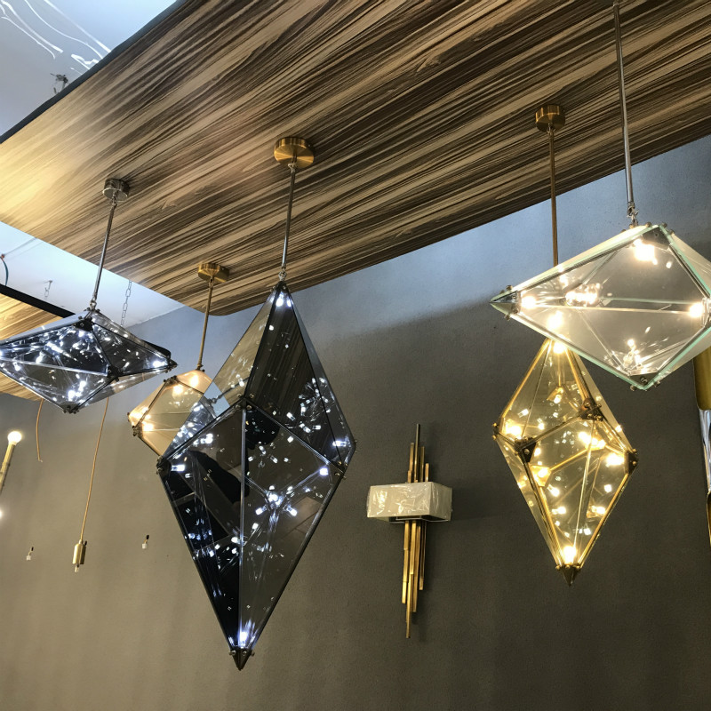 Creative Diamond Pendant Hanging Lamp Modern Style Diamond Glass Chandelier Nordic Luxury Restaurant Hotel cafe exhibition fair simple glass chandelier restaurant cafe restaurant milk white balls chandelier corridors hanging lamp 110 240v