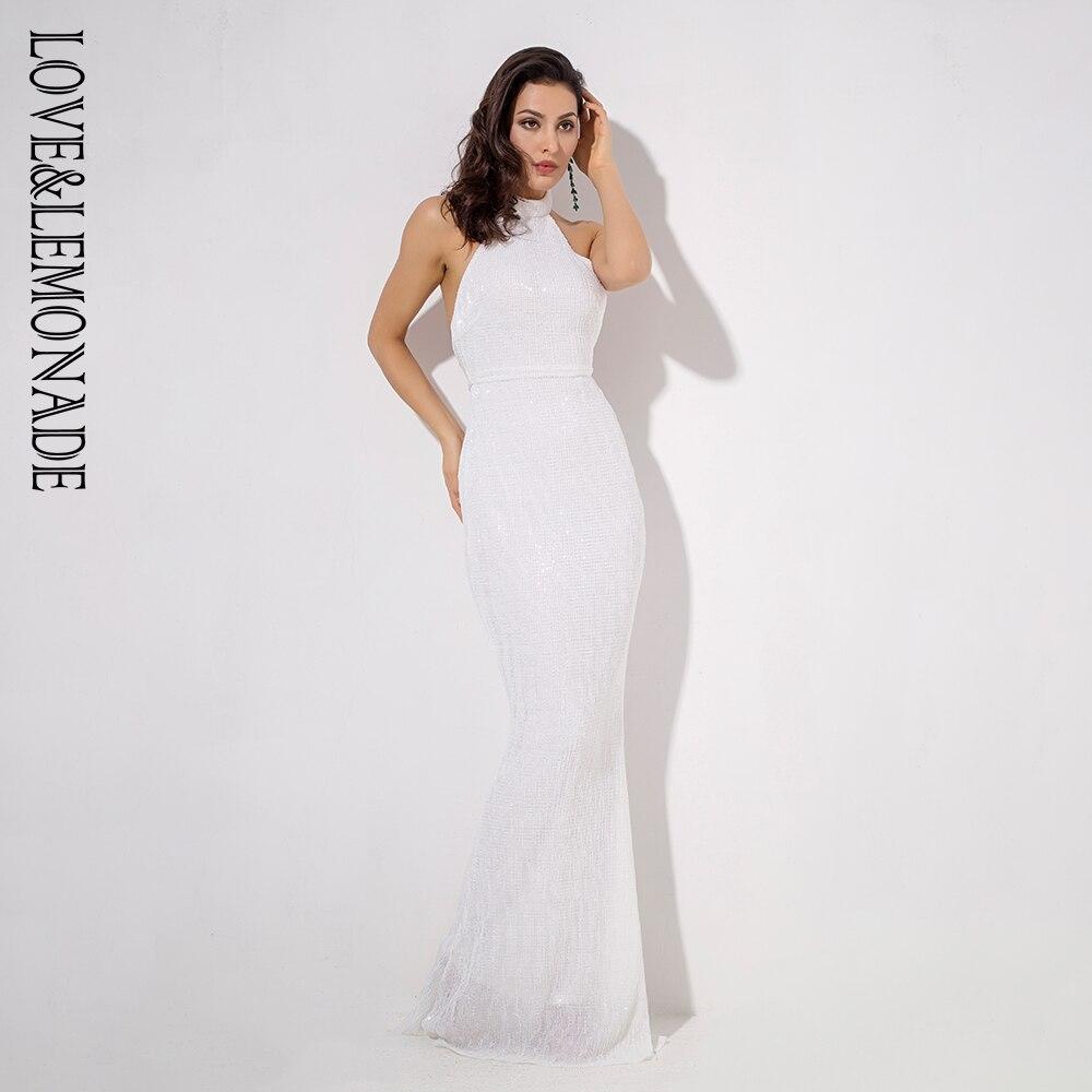 Limonade Amour Col Fold Robes Ouvert Élastique Lm1050 Blanc Et Paillettes Maxi Retour zSpqMUV