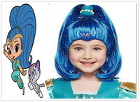 Shimmer Cosplay Wig Kids Wigs Shine Party Hats Halloween Christmas Decoration