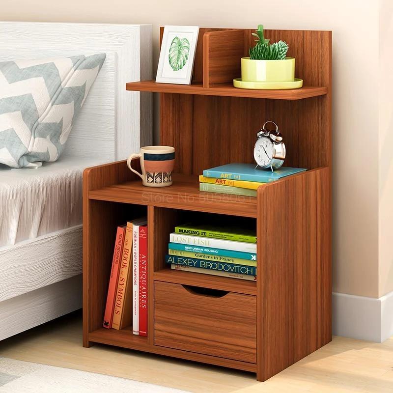 simple bedside table shelf bedside storage small cabinet simple bedroom bedside storage cabinet multifunctional