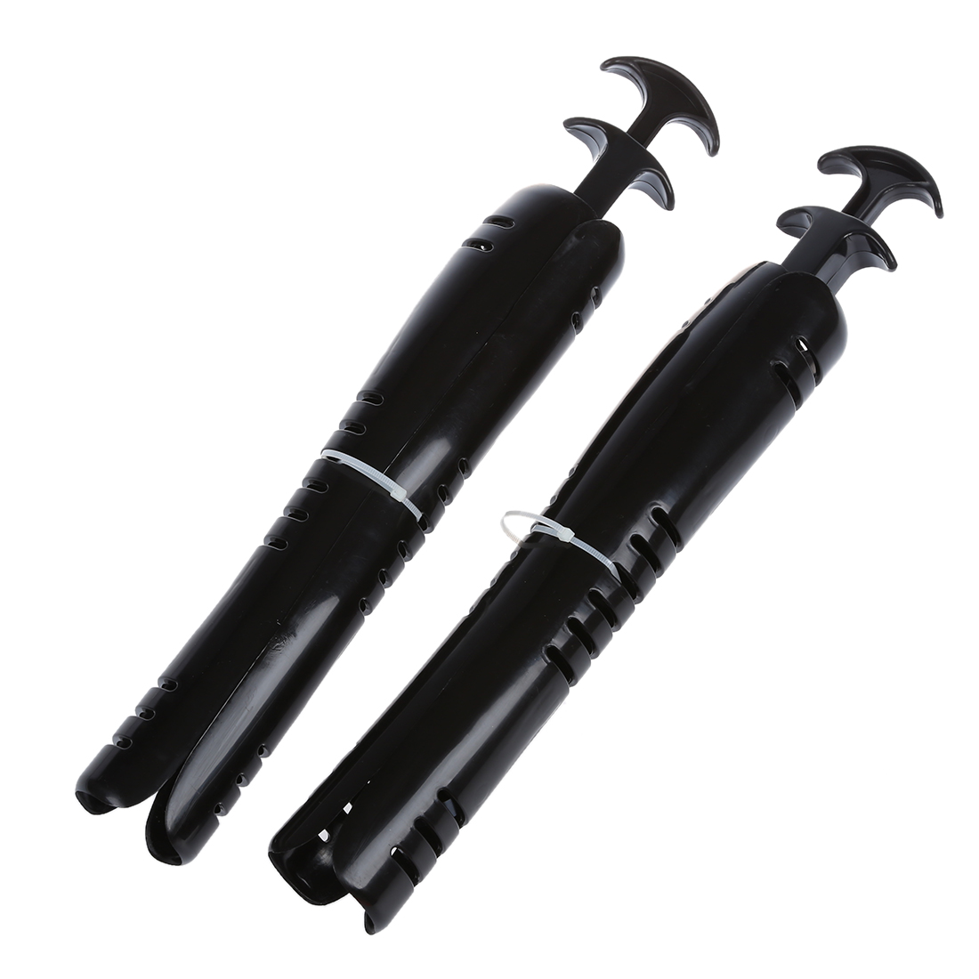 1 PAIR 12 1/2 Inch Boot Stretcher Shaper / Shoe Tree With Handle--Black 5pcs 1 pair 12 inch white film inflatable boot stretcher shaper shoe tree