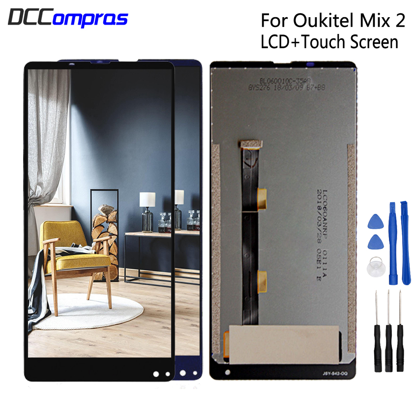 For Oukitel MIX 2 LCD Display Touch Screen Digitizer Repair Parts For Oukitel MIX2 LCD Screen Display Replacement Free ToolsFor Oukitel MIX 2 LCD Display Touch Screen Digitizer Repair Parts For Oukitel MIX2 LCD Screen Display Replacement Free Tools