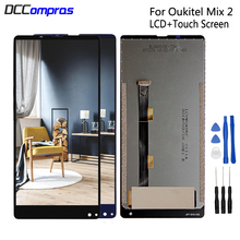 цена на For Oukitel MIX 2 LCD Display Touch Screen Digitizer Repair Parts For Oukitel MIX2 LCD Screen Display Replacement Free Tools