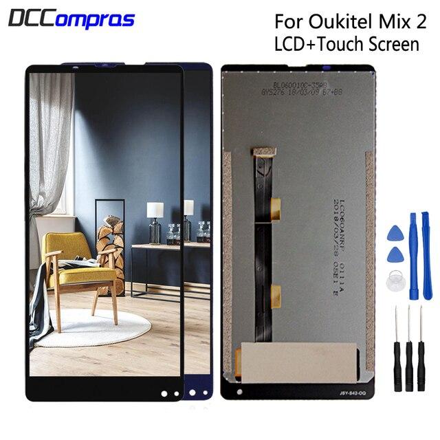 Oukitel 믹스 2 lcd 디스플레이 터치 스크린 디지타이저 수리 부품에 대 한 oukitel mix2 lcd 화면 디스플레이 교체 무료 도구