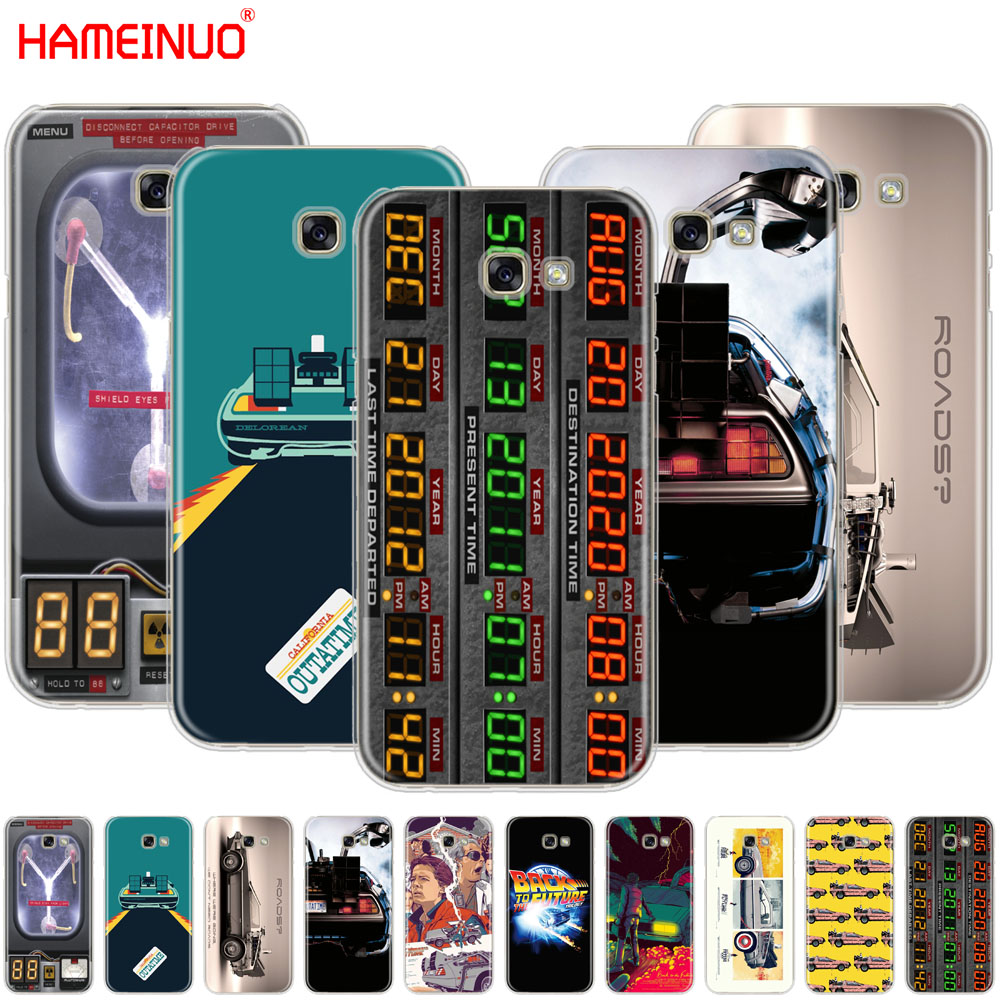 Back to the Future DeLorean Time Machine cell phone case cover for Samsung Galaxy A3 A310 A5 A510 A7 A8 A9 2016 2017 2018