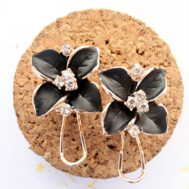 Matte Colored Flowers Earrings 3