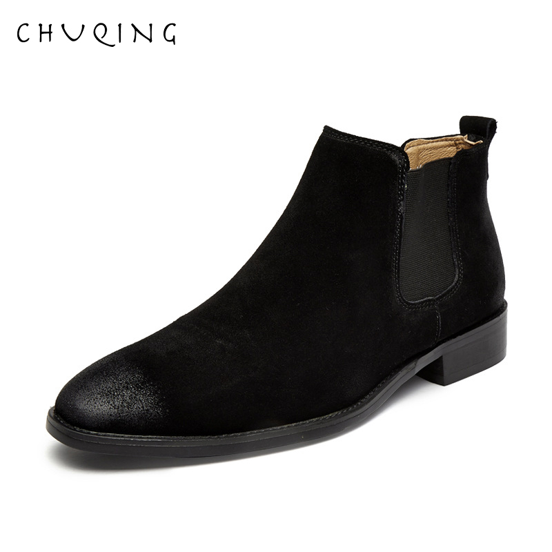 Top quality Men Boots Genuine Leather Autumn Boots Shoes Men Fashion Retro Style Ankle Boots For