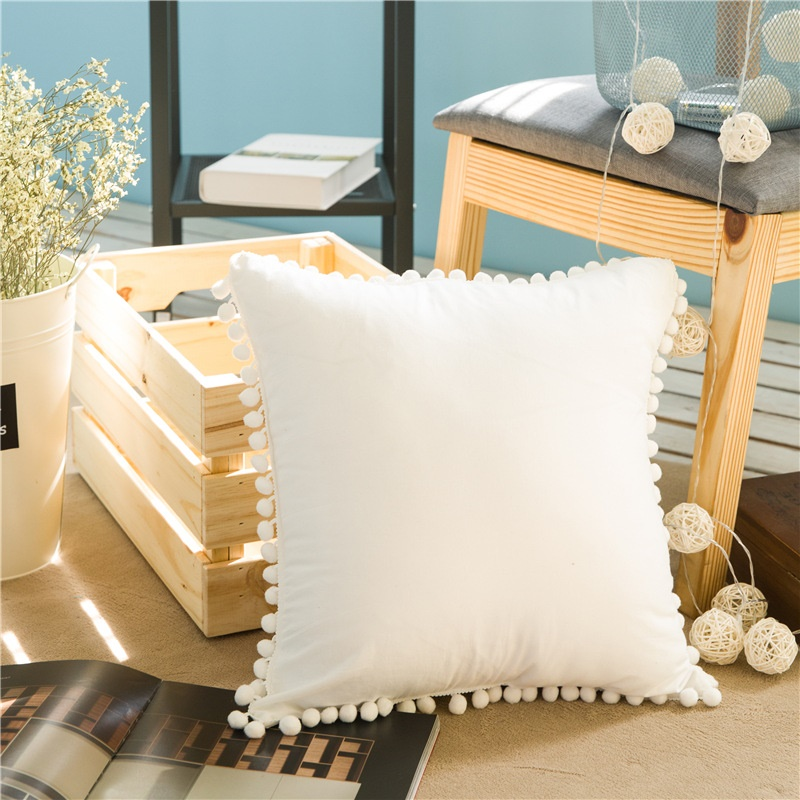 Dreamsoule patrón cuadrado algodón Mantas Fundas De Almohada ...
