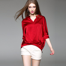Women Summer Autumn T-shirt Clothes Black White Red Color Large Size Fashion Casual Office Shirt Style Tees Tops XXL XL L M S