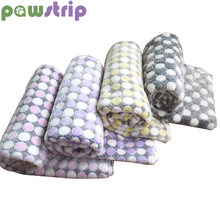 pawstrip 3 Size Soft Fleece Dog Blanket Warm Cat Bed Dot Print Small Dog Bed For Chihuahua Yorkie(China)