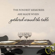 Free shipping family wall stickers home decor , Kitchen Vinyl  Wall Decals Sticker Art Decor   Fondest Memories Wall Quote