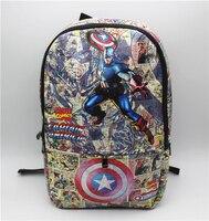 Capitán América Mochila bolsa de Capitán América Marvel comics hombro Mochila ordenador school la Bolsa de Libros