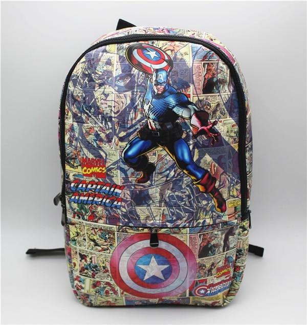 Captain America Backpack Marvel comics bag Captain America Backpack shoulder computer school Book Bag captain