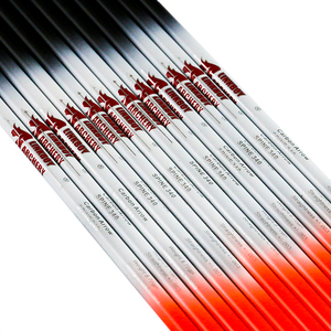 Image 3 - Flecha de carbono para tiro con arco Linkboy sp500, 12 Uds., 32 pulgadas, punto objetivo de pluma de pavo, puntas de 75gr, Nock para caza de arco largo tradicional