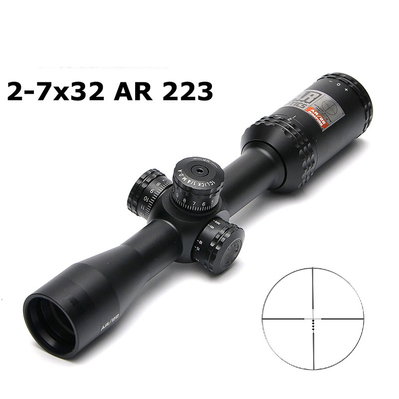 2-7x 32mm AR Optics Drop Zone-22 BDC Tactical Riflescope RIMFIRE Reticle Rifle Scope With Target Turrets Hunting Scope image