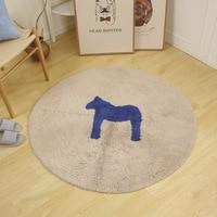 Kids Round Rug And Carpet Lovely Horse Rug Round Carpet For Kids Floor Mat For Kids