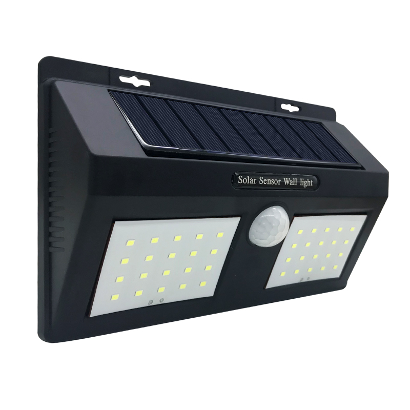 Outdoor Waterproof IP65 40LED Solar Light Solar Panels Power Motion Sensor Wall Porch Lights Garden Fence Yard Landscape Lamp
