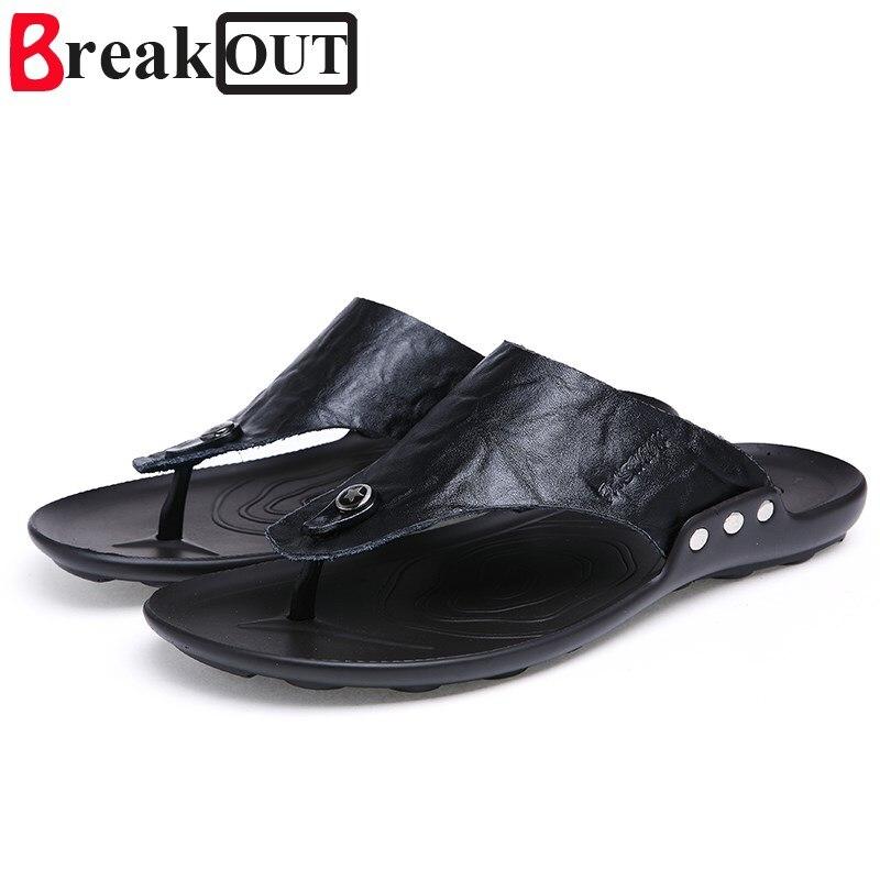 Break Out New Arrival Men Sandals Summer Style Men Shoes Casual Men Slippers Beach Shoes 5 colors hot sale Big Size 38-45
