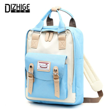 DIZHIGE Brand Patchwork Women Backpack Waterproof Oxford Travel Backpacks Teenagers Girls Large Capacity Female Mochila