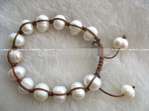 White Freshwater Pearl Bracelet 7.5