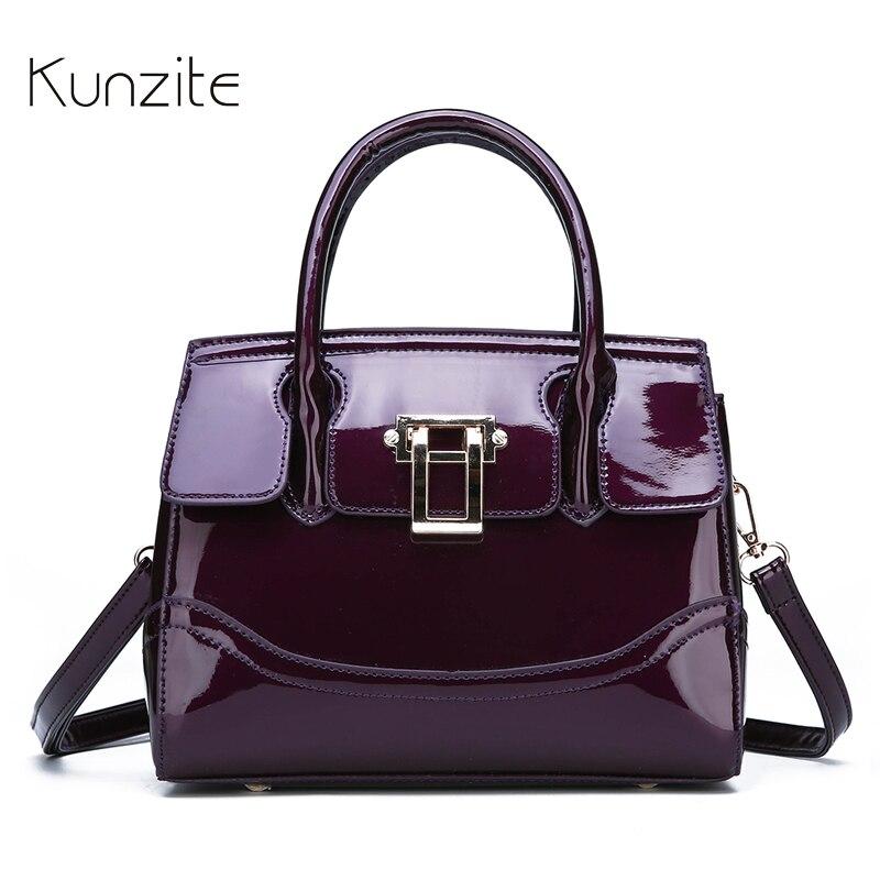 Women s Patent Leather Handbag Luxury Designer Black Messenger Bag For Ladies And Girls Fashion Daily