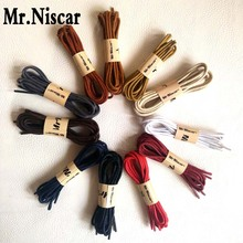 Mr.Niscar 1 Pair Casual Cotton Shoelaces High Quality Waxed Round Shoe Laces Shoestring Martin Boots Leather Shoes Cord Ropes