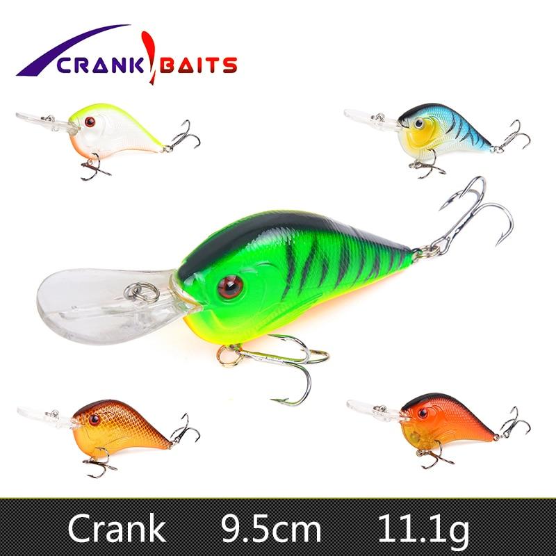 Tackle Crank Treble Hook Minnow Baits Fishing Lures CrankBaits Topwater
