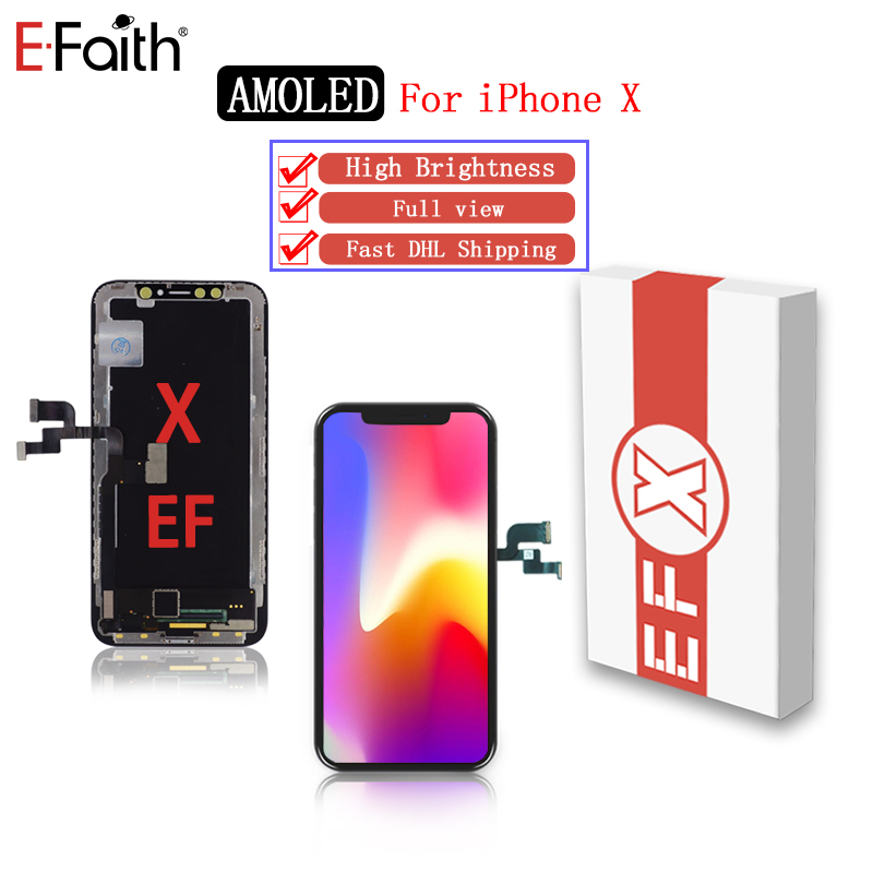 5pcs Lot EFaith AAA quality for iPhone X XR LCD with full view high brightness display