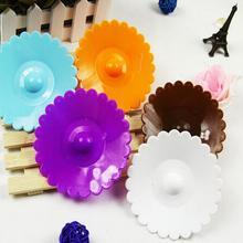 Горячая 10,5 см милый Анти-пыль силиконовый чехол для чашки кофе присоска Крышка силиконовая Милая чашка с крышечкой-бантиком крышка 6 цветов