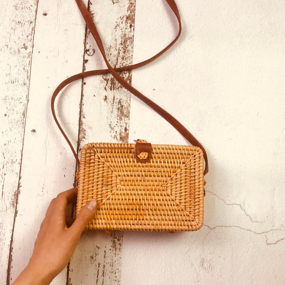 2018 Bohemian Straw Bags for Women Big Circle Beach Handbags Summer Vintage Rattan Bag Handmade Kintted Travel Flap Bags
