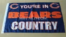 Bandeira Do País DA NFL Chicago Bears New 3x5ft 90x150 cm Poliéster Grande  Bandeira Da Bandeira 44bc142f51695