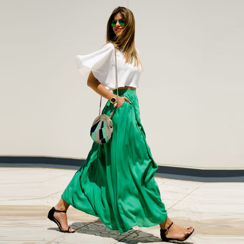 Compare Prices on Long Green Skirt- Online Shopping/Buy Low Price ...