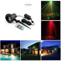 Remote RG 12 Patterns Outdoor Waterproof Latest Elf Laser Light Outdoor Christmas Projector Garden Landscape Decorative