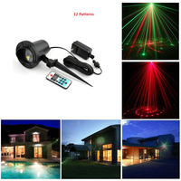 Remote RG 12 Patterns Outdoor Waterproof Latest Elf Laser Light Outdoor Christmas Projector Garden Landscape Decorative