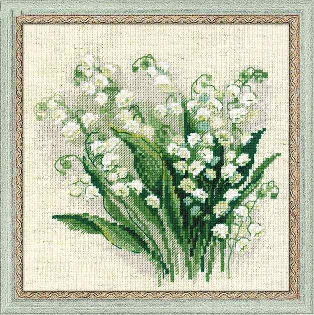 Forget me not cross stitch package flowers 18ct 14ct 11ct