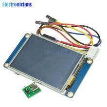 """2.4 """"2.4 inç TFT 320x240 rezistif dokunmatik ekran UART HMI LCD modül ekran Arduino ahududu Pi için TFT İngilizce nextion"""