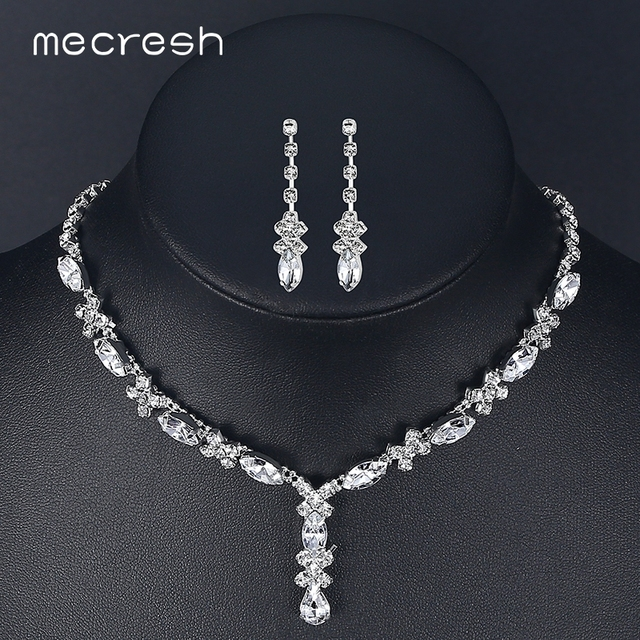 Aliexpress Com Buy Mecresh Crystal African Jewelry Set For Bride