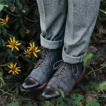 Men Luxury Boots British Style