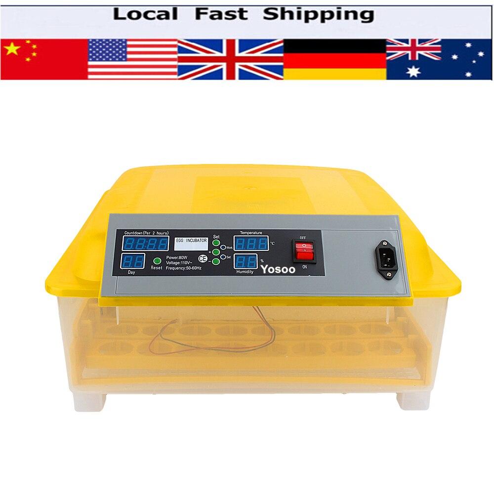 ФОТО Digital Temperature Full Automatic 48 Eggs Incubator for Chicken Duck Quail Parrot Mini Industrial Brooder Hatchery Machine