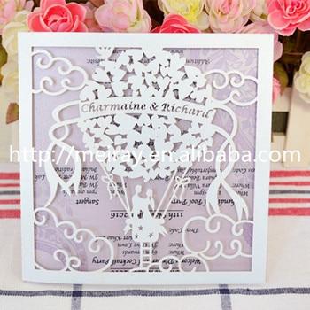 Art & Collectible Use and Folk Art Style hot air fire balloon laser cut wedding invitation card greeting card
