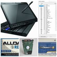 2017 mais novo alldata e mitchell software instalado laptop x200t 4 gb ram tela sensível ao toque com 1 tb hdd windows7 auto reparação software