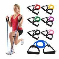 120 cm Elastico Elastici a resistenza di Yoga Tirare La Corda di Fitness Pilates Allenamento di Sport di Gomma Trazione Fune Expander Banda Elastica