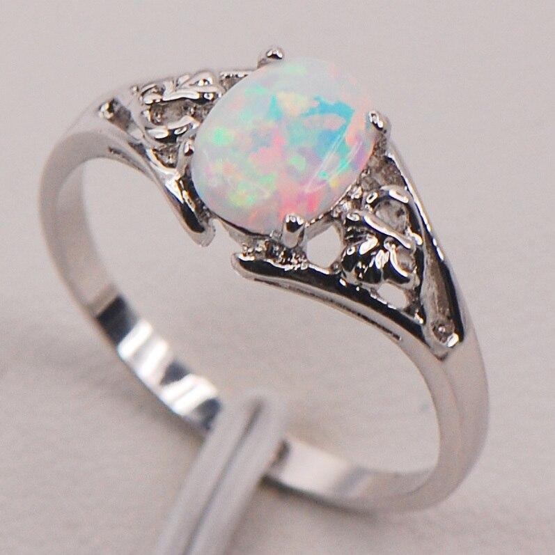 Forme de Papillon Bague Mariage Argent Femme Bijoux Or Blanc Sterling 7 8 9 TAILLE