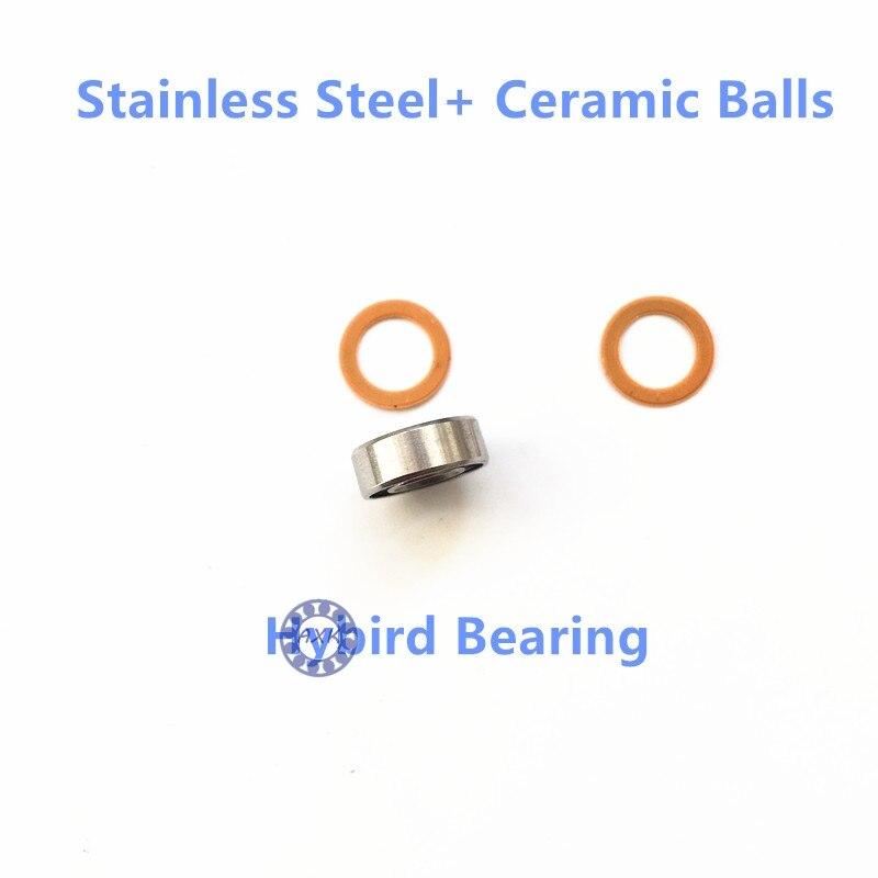 S623 SMR105 SMR104 SMR115 SMR103 S693 SMR74 SMR126 SMR52 S607 SMR117 S6700 S695 SMR117 SMR95 S683 SMR128 Hybird ceramic Bearing 100pcs abec 5 440c stainless steel miniature ball bearing smr115 s623 s693 smr104 smr147 smr128 zz shield for fishing fly reels