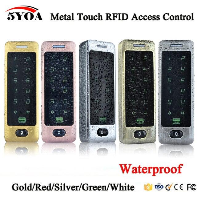للماء المعادن اللمس 8000 المستخدمين الباب RFID التحكم في الوصول لوحة المفاتيح حالة قارئ 125 كيلو هرتز EM4100 ID بطاقة