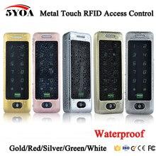 Impermeable toque de Metal 8000 usuarios Puerta de Control de acceso RFID teclado caso lector 125khz EM4100 de tarjeta de identificación