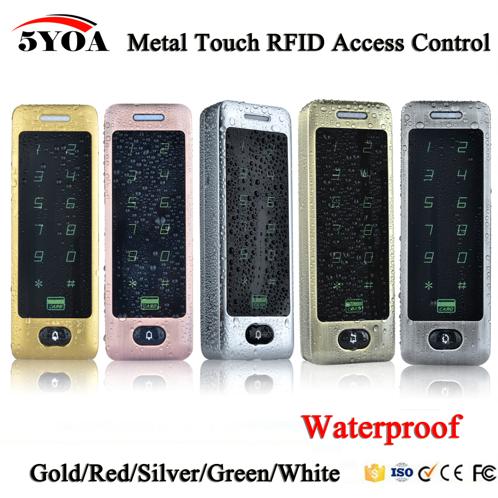 Waterproof Metal Touch 8000 Users Door RFID Access Control Keypad Case Reader 125khz EM4100 ID Card-in Access Control Kits from Security & Protection