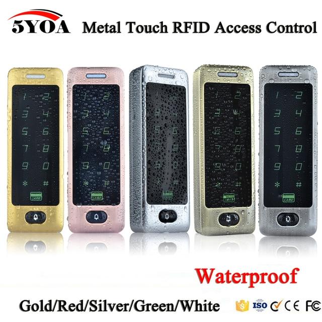 Waterproof Metal Touch 8000 Users Door RFID Access Control Keypad Case Reader 125khz EM4100 ID Card