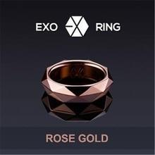 K-pop EXO Ring Fashion 2017 EXO Black Rings EXO-K EXO-M EXODUS XOXO WOLF88 Team Logo Alloy Jewelry Rings For Women or Men k-pop